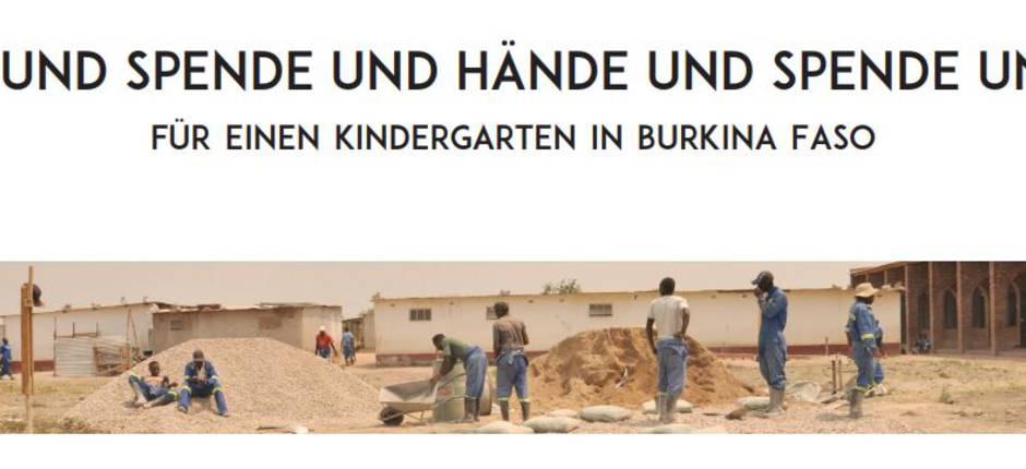 Kindergartenbau in Burkina Faso